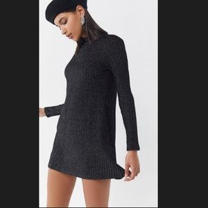 Urban Outfitters Sparkly Metallic Sweater Dress
